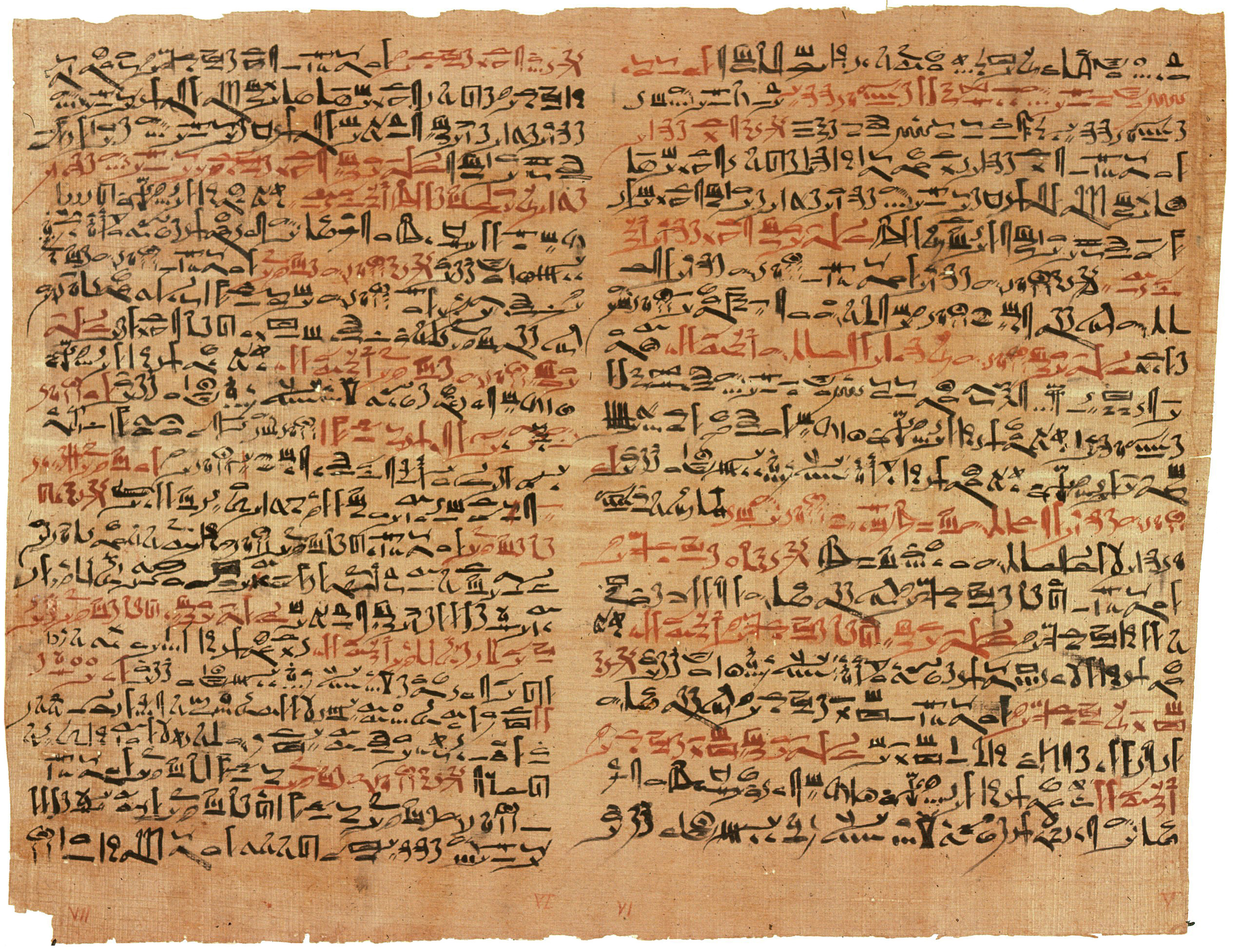The treatise that may have been inspired by Imhotep's early efforts, written in a beautiful hieratic script.