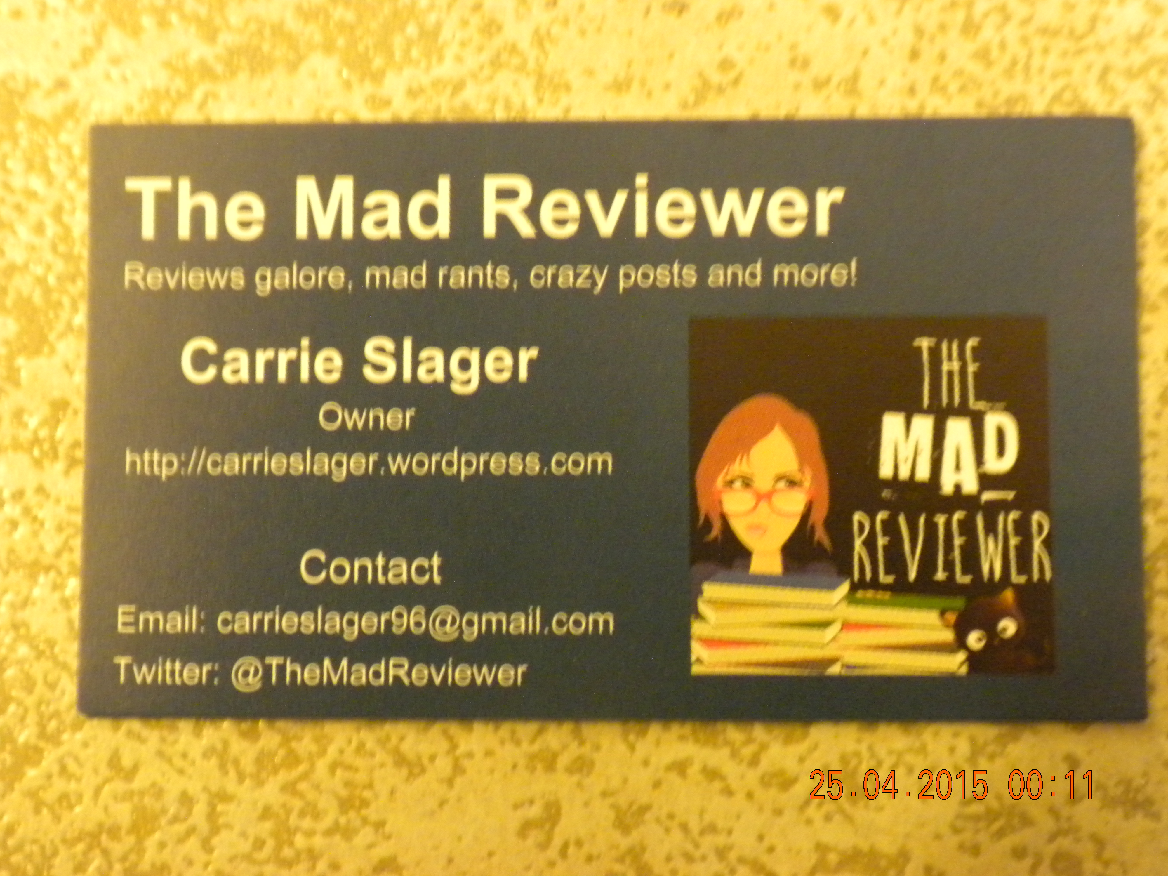 April | 2015 | The Mad Reviewer